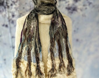 three trees nuno wool and silk organic style soft scarf
