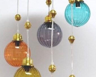 Glass pendant lights etsy aloadofball Gallery