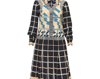 Lanvin 1970s Printed Dress