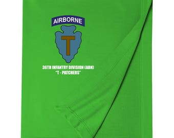 36th Infantry Division (Airborne)  Embroidered Blanket-6992