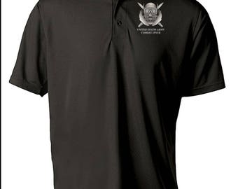 US Army Combat Diver Embroidered Moisture Wick Polo Shirt -7688