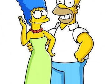 Photo in the style of the Simpsons (2 people)