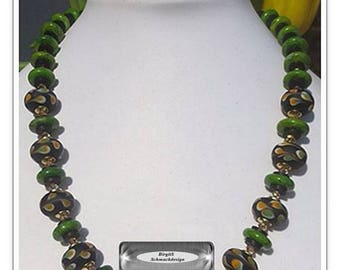 Green Trade Beads Necklace