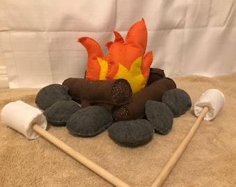 Campfire Adventure Handmade Felt Playset