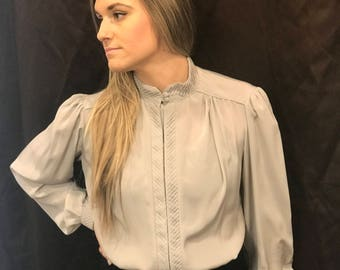 "1980s working girl Blouse ""Ann"""