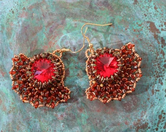 Oriental Fire Earrings