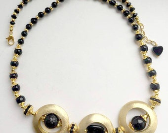 Black and golden necklace