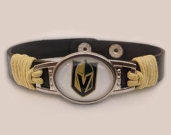 Las Vegas Golden Knights Genuine Leather Bracelet
