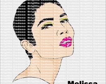 Melissa pixie cut svg, png, jpeg, file