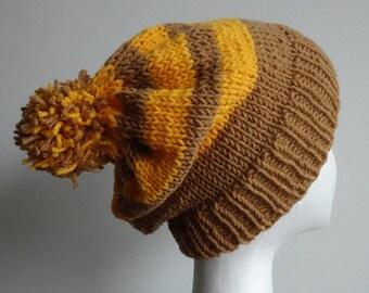 Knit Beanie | Pom Pom Hat | Slouchy Beanie | Pom Pom Beanie | Slouchy Hat | Winter Beanie | Knit Hat | Gifts under 30 | Hand Knit Beanie