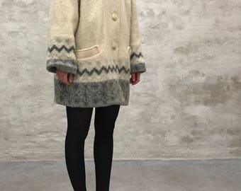 Vintage wool shirt jacket
