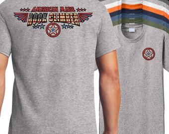 American Made Rock Climbing T-Shirt, American rock climber shirt, climbing rope shirt, climbing carabiner shirt.