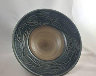 Handmade functional stoneware bowl - fruit bowl, vegetable bowl, salad bowl