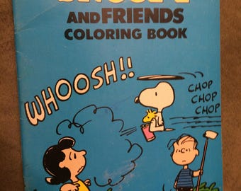 1980 Vintage Peanuts Snoopy and Friends Coloring Book - Charles Schulz