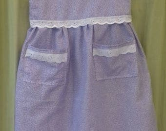 Vintage style girl's purple dress