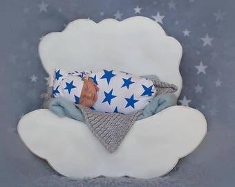 Wooden Cloud Photo Prop, Newborn Photo Prop, Newborn Photography Prop, Wooden cloud newborn