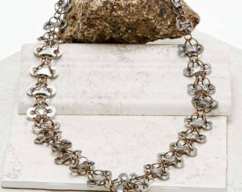 Flat Link Necklace from Bicycle Chain