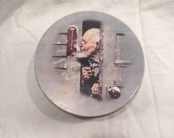 "1920 Norman Rockwell's ""Below Zero"" Tin bu Funk & Wagnalls Co."