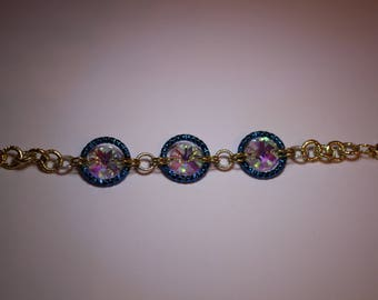 Chain bracelet with crystals