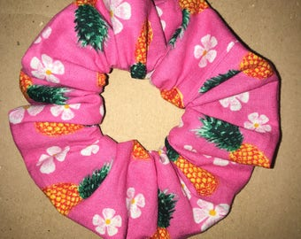 Tropical Pineapple Print Scrunchie