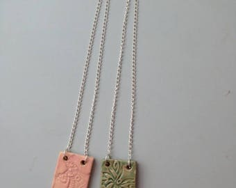 Ceramic Plate Necklace