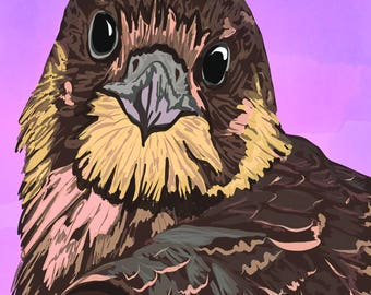 Peregrine Falcon - digital illustration