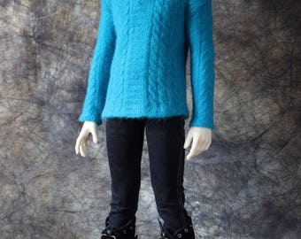 BJD SD OUTFIT male Clothing turquoise cashmere blue Doll Boy Clothes  YiD SiD