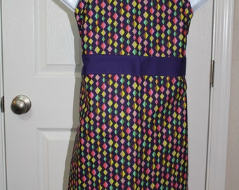 Child's Multi Colored Diamond Apron