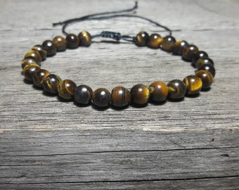Tiger eye bracelet, Men bead bracelet, good luck, Men Healing Bracelet, Mens bracelet, tigers eye jewelry, Healing Crystal, wish bracelet