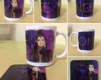"""Once Upon A Time """"Regina"""" Mug & Matching Coaster Set"""