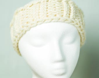 Ribbed knit head band