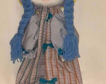 Hand made doll saves pajamas handmade acrylic painting made in Itali original customizable gift