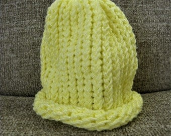Shimmery Yellow Baby's Knit Hat