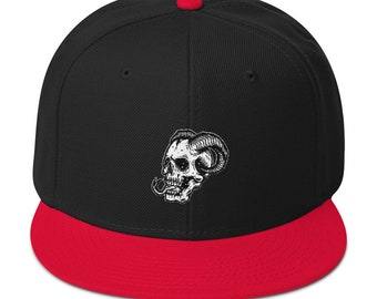 Demon Skull of Death Snapback Hat