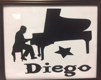 Personalized Piano player picture