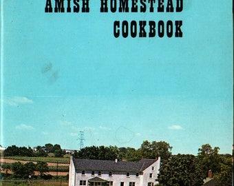 The Amish Homestead Cookbook - 1960s - Vintage Cook Book