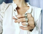 The Sisssss ring/fine silver .999 and Amazonite/ size 7.5 US