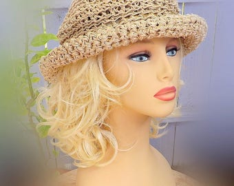 Floppy Beach Hat Sun Hat Women, Crochet Sun Hat Summer Hats for Women, Floppy Brim Hat Womens Wide Brim Hat