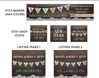 Etsy Shop Set Cover Photo Etsy Shop Design Custom Cover Banner Set Etsy Banner Sets Retro Banner Set Vintage Etsy Banner Shop Banner