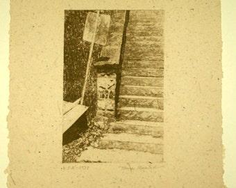 WPA 1939 original etching on handmade paper