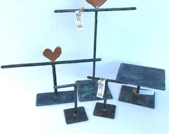 Jewelry Display Kit - Set of 5 - Heart Toppers - JSET45