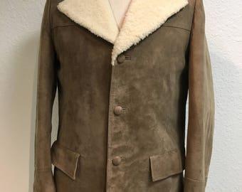 Men's Vintage Winter Jay Bee's Shearling Coat sz 44