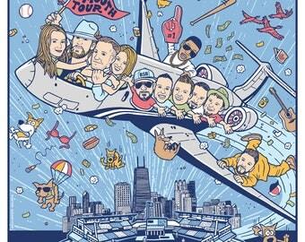 Florida Georgia Line Backstreet Boys Nelly Chris Lane Smooth Tour Wrigley Field Chicago Poster 2017 by GIGART