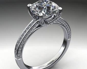 remi ring - 2.2 carat round diamond cut NEO moissanite engagement ring