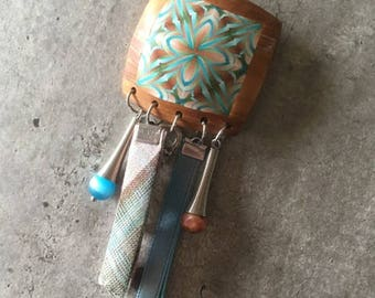 Polymer clay brooch - new collection
