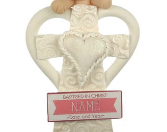 Baptism Christmas Ornament - Boy or Girl