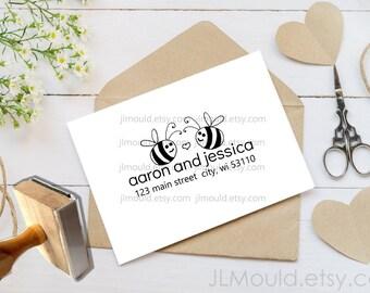 Custom Rubber Stamp Return Address Modern Address Stamp Custom Address Stamp Personalized Address Stamp Sailor Nautical wedding 1065 JLMould