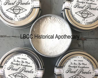 100% Pure Pearl Powder- Face Powder- Regency Makeup Jane Austen Makeup Natural Makeup Historical Pearl Powder For Sensitive Skin