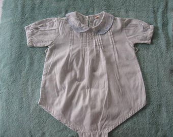 Infant Pleated One Piece Short Outfit