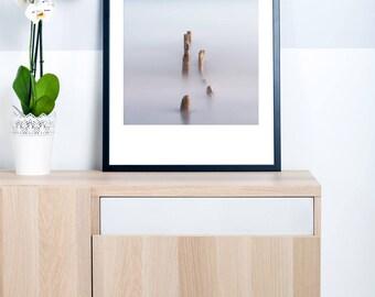 Modern Coastal Landscape Photography - Large Seascape Photography - Minimalist Photography - Modern Coastal Decor - Lake Erie Photography